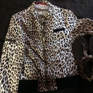 Other - Cheetah Print Jacket and Leopard Print Sandals